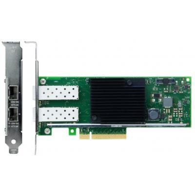 Lenovo netwerkkaart: ThinkSystem X710-DA2, PCIe, 10Gb, 2-Port SFP+, Ethernet Adapter - Zwart, Groen