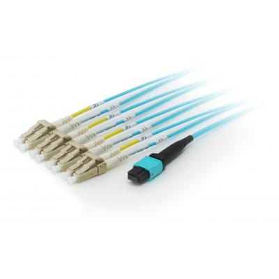 Equip fiber optic kabel: MTP/LC Trunk Fiber Patch Cord, OM4 M/M, 3m