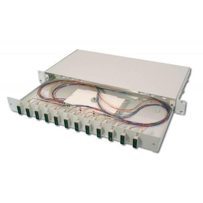 Digitus fiber optic adapter: Fiber Optic Splice Box, Equipped, SC, OM2 - Grijs