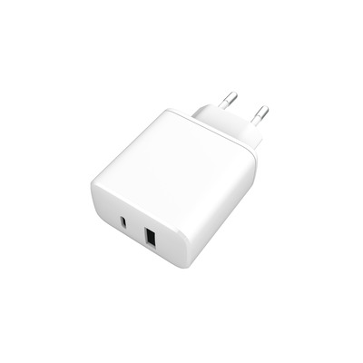ESTUFF Home Charger USB-C PD 18W + USB-A 2.4A/12W Oplader - Wit