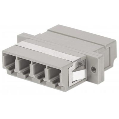 Intellinet Multimode 4-Core LC Adapter, LC Adapter, Multimode 4 Cores, Zirconia Sleeve, Beige Fiber optic .....