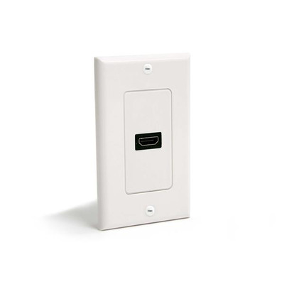 StarTech.com Single Outlet Female HDMI Wall Plate White - Wit