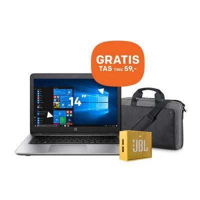 Hp laptop: ProBook 440 G4 14 inch 128GB + GRATIS tas (P6N20AA) + GRATIS JBL speaker - Zwart, Zilver