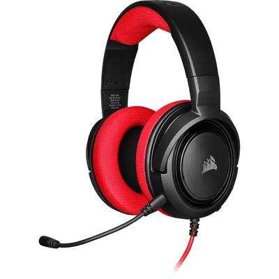 Corsair HS35 Headset - Zwart, Rood