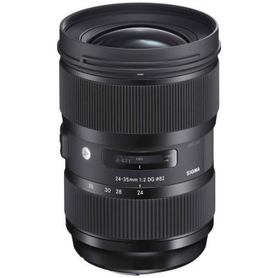 Sigma camera lens: 24-35mm F2 DG HSM | A - Zwart