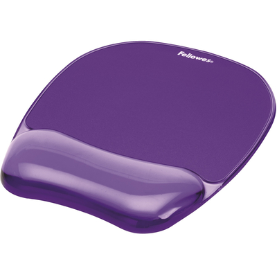 Fellowes Crystal, Gel Muismat - Violet