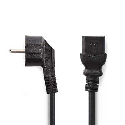 Nedis Voedingskabel, Schuko-stekker haaks - IEC-320-C19, 2,0 m, Zwart Electriciteitssnoer