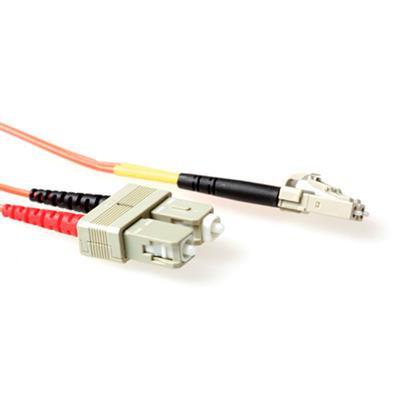 Ewent 10 meter LSZH Multimode 50/125 OM2 glasvezel patchkabel duplex met LC en SC connectoren Fiber optic kabel - .....