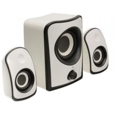 König luidspreker set: Speaker set 2.1, 120 - 20000Hz, 3.5mm, 4W RMS, White - Wit