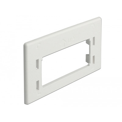 DeLOCK Keystone Adapter Plate for furniture installation outlet Montagekit - Wit