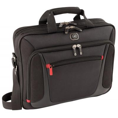 "Wenger/swissgear laptoptas: SENSOR 38.1 cm (15"") MacBook Pro Briefcase with iPad Pocket, Black - Zwart"
