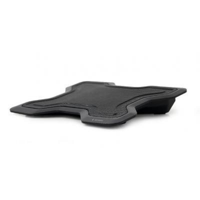 Gembird 1 Fan, 1000 RPM, Airflow 23 CFM, USB, Metal/Plastic, 400g, Black Notebook koelingskussen - Zwart