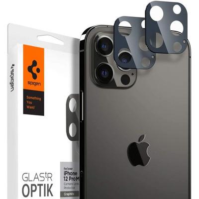 Spigen [2 Pack] iPhone 12 Pro Optic Lens Tempered Glass - Grafiet