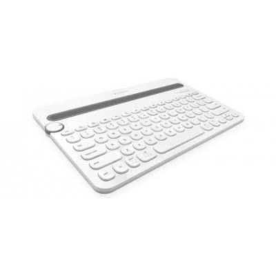 Logitech mobile device keyboard: K480 - Grijs, Wit, QWERTY