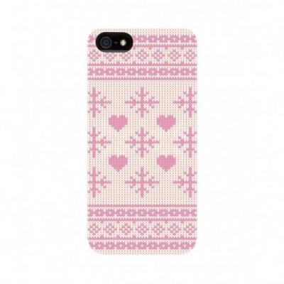 FLAVR iPhone 5/5S/SE case Mobile phone case - Roze, Wit