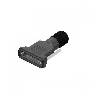 Conec D-Sub, IP67, Black Kabel connector - Zwart
