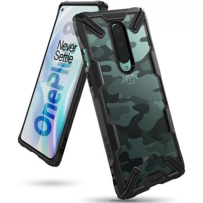 Ringke Fusion X Design Backcover OnePlus 8 - Camo Zwart - Camouflage Black Mobile phone case