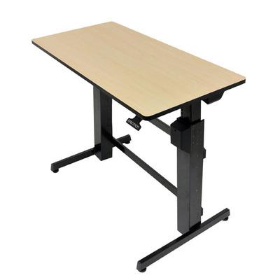 Ergotron WorkFit-D, Sit-Stand Desk Bureau - Zand