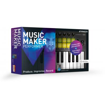 Magix audio software: Magix, Music Maker Live Performer (Incl. Luxe Keyboard)