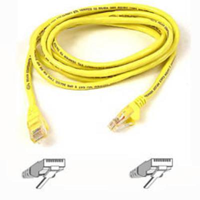 Belkin netwerkkabel: Cable patch CAT5 RJ45 snagless 10mYellow