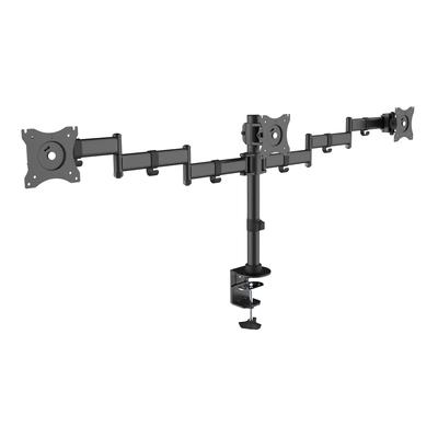 """Equip 13 - 27"""", 8 kg, 75x75/100x100 VESA Monitorarm - Zwart"""