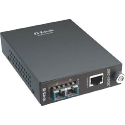 D-Link Gigabit TP-to-Gigabit Fiber (1000Base-SX) multi-mode (SC, 550m max.) Media converter