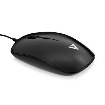 V7 USB Wired Mouse Muis - Zwart