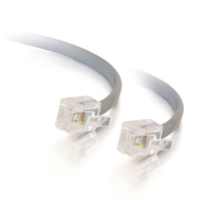 C2g signaal kabel: 10m RJ11 6P4C Straight Modular Cable - Grijs