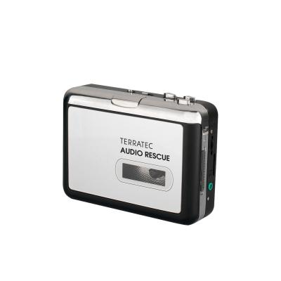 Terratec : AUDIO Rescue - 2x AA, USB, Aux in, Micro-SD - Zwart, Zilver