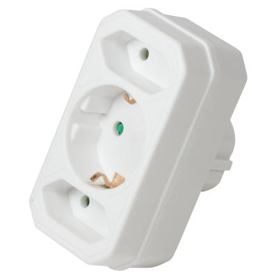 LogiLink LPS221 Stekker-adapter - Wit