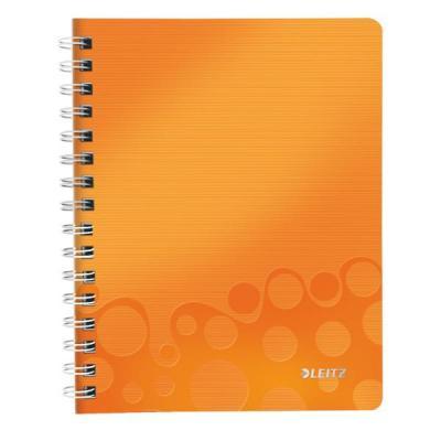 Leitz schrijfblok: WOW notitieboek - Metallic, Oranje