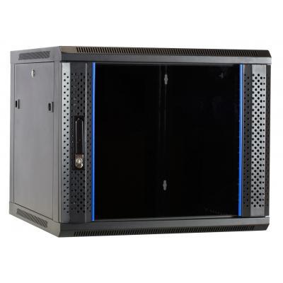 DS-IT 9U wandkast ongemonteerd met glazen deur 600x600x500mm Rack