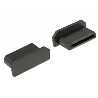 Delock fitting-cove: Dust Cover for HDMI mini-C female without grip 10 pieces black - Zwart