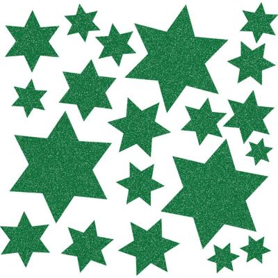 Herma sticker: Window decoration stars, green - Groen