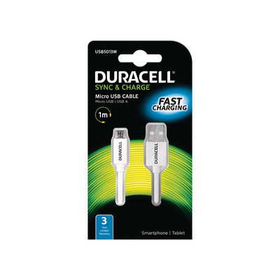 Duracell USB5013W Oplader - Wit