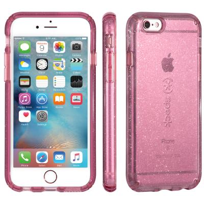 Speck apparatuurtas: iPhone 6 / 6s Plus CandyShell (Clear / Beaming Orchid Gold Glitter)