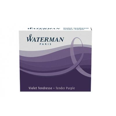Waterman inkt: Short International Cartridge Tender Purple for Fountain Pen - Paars, Wit