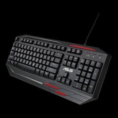 Asus toetsenbord: Sagaris GK100 - Zwart, Rood