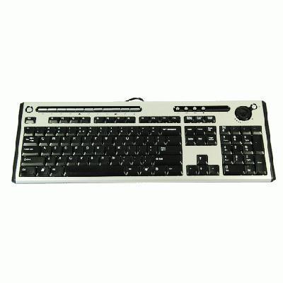 Packard Bell Keyboard CHICONY KB-0420 PS/2 Standard 105KS Black UK with PB logo - QWERTY Toetsenbord - .....