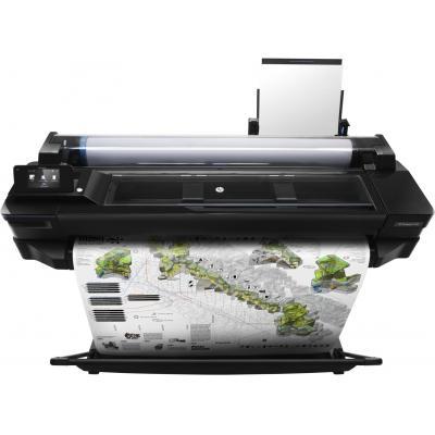 Hp grootformaat printer: Designjet DesignJet T520 24-in - Zwart, Cyaan, Magenta, Geel