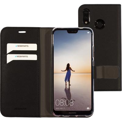 Mobiparts Saffiano Wallet Case Huawei P20 Lite Black Mobile phone case - Zwart
