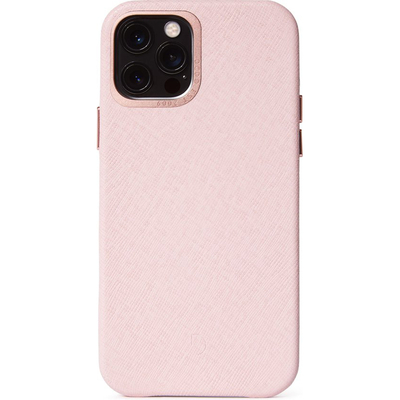 Decoded Leather Backcover MagSafe iPhone 12 (Pro) - Roze - Roze / Pink Mobile phone case
