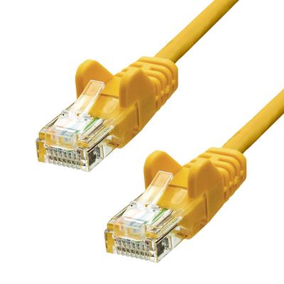 ProXtend CAT5e U/UTP CCA PVC Yellow 25CM Netwerkkabel - Geel