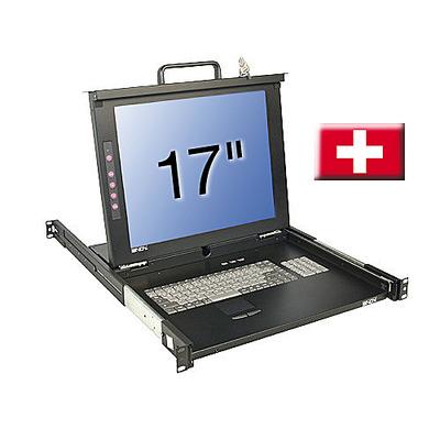 Lindy 21610 Rack console - Zwart