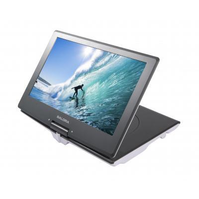 """Salora portable DVD player: Een portable DVD speler met een extra groot scherm van maar liefst 14"""" (36CM) - Grijs, Wit"""