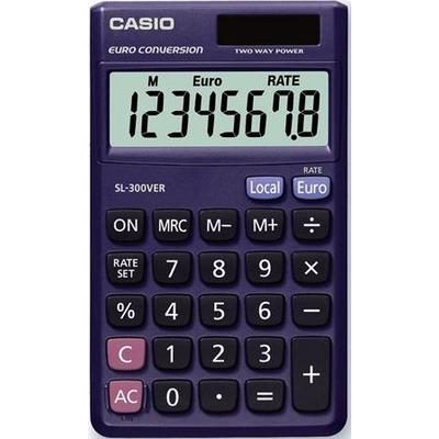 Casio calculator: Zakrekenmachine - Blauw
