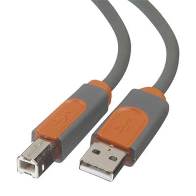 Belkin CU1000CP0.9M USB kabel - Oranje, Grijs