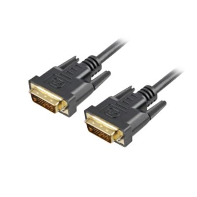 Sharkoon DVI-D/DVI-D (24+1), 1 m DVI kabel  - Zwart