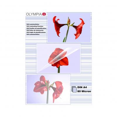 Olympia 1x100 DIN A4 80 micron Laminatorhoes - Transparant