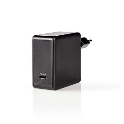 Nedis Thuislader, 3,0 A, USB-C, Power Delivery 60 W, Zwart Oplader
